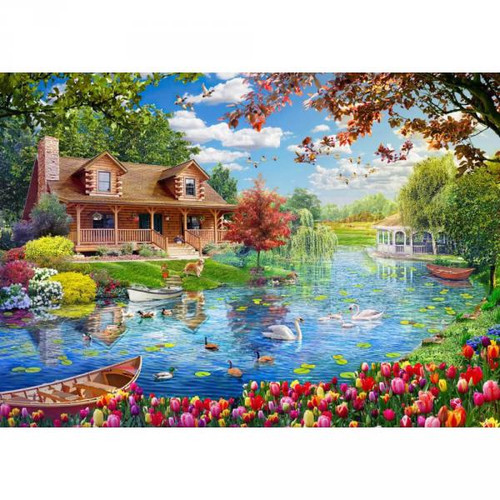 """""""Little House on the Lake"""" 5000 Piece Jigsaw Puzzle 