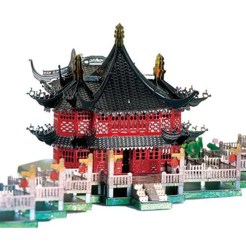 """Chinese Yu Garden Zigzag Bridge"" Metal Model Kit | MU Model"