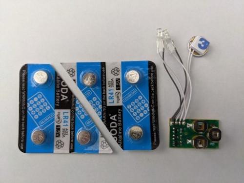 """""""LED Kit #1"""" Small Set of Two LEDs For Metal Model Kits (Includes Vibration Sensor & Batteries)"""