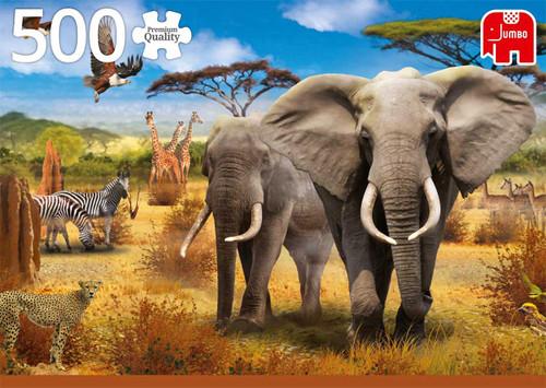 """African Savannah"" 500 Piece Jigsaw Puzzle | Jumbo"