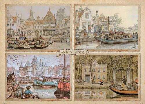 """Canal Boats"" 1000 Piece Jigsaw Puzzle   Jumbo"