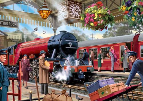 """Waiting on the Platform"" 1000 Piece Jigsaw Puzzle | Falcon de luxe"
