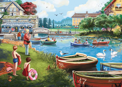 """""""The Boating Lake"""" 1000 Piece Jigsaw Puzzle 