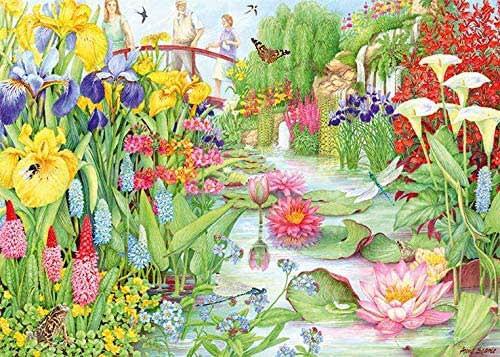 """The Flower Show: The Water Garden"" 1000 Piece Jigsaw Puzzle | Falcon de luxe"
