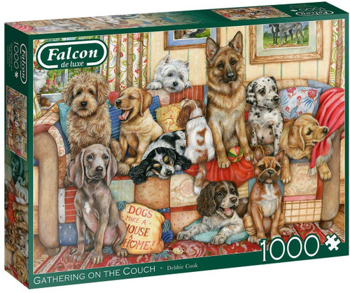 """""""Gathering on the couch"""" 1000 Piece Jigsaw Puzzle 