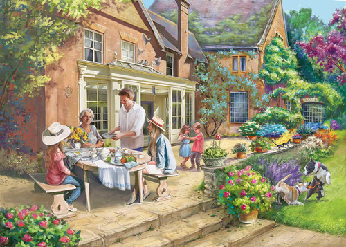 """Country House Retreat"" 1000 Piece Jigsaw Puzzle | Falcon de luxe"