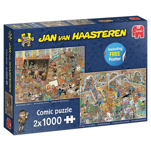 """""""Trip to the Museum"""" JVH *Two-in-One* 2x 1000 Piece Jigsaw Puzzles 
