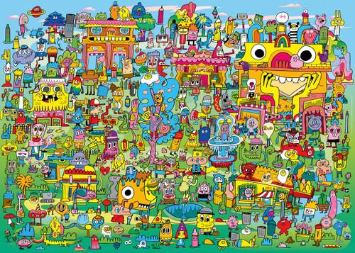 """Doodle Village"" 1000 Piece Jigsaw Puzzle | Heye"