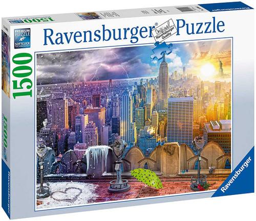 """Day & Night NYC Skyline"" 1500 Piece Jigsaw Puzzle | Ravensburger"