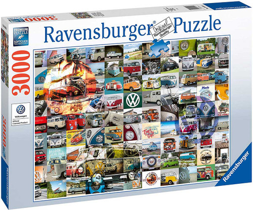 """99 VW Camper Van Moments"" 3000 Piece Jigsaw Puzzle   Ravensburger"