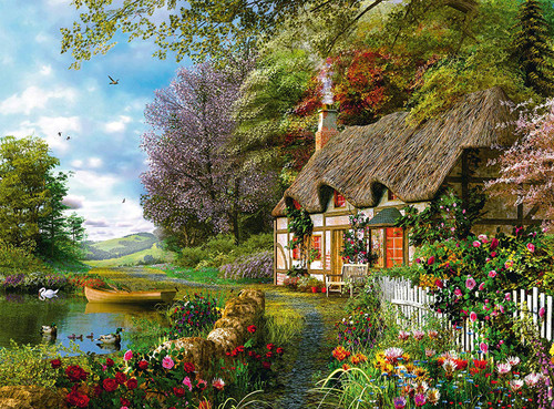"""""""Country Cottage"""" 1500 Piece Jigsaw Puzzle 