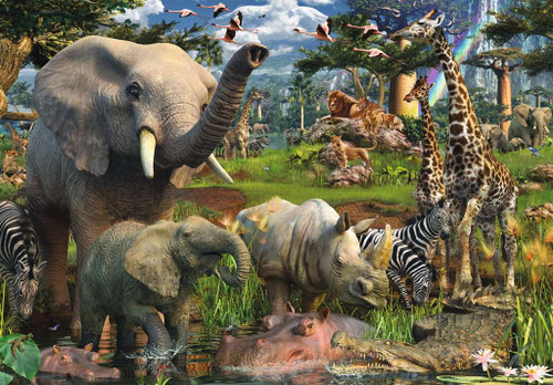 """""""At the Waterhole"""" 18,000 Piece Jigsaw Puzzle 