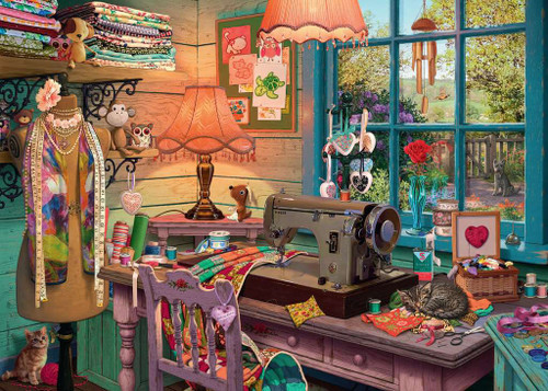 """""""The Sewing Shed"""" 1000 Piece Jigsaw Puzzle 