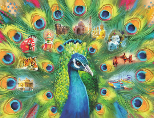 """""""Land of the Peacock"""" 2000 Piece Jigsaw Puzzle 