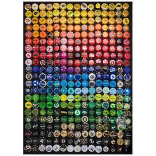 """""""Collage Bottle Caps"""" 1000 Piece Jigsaw Puzzle   Educa"""