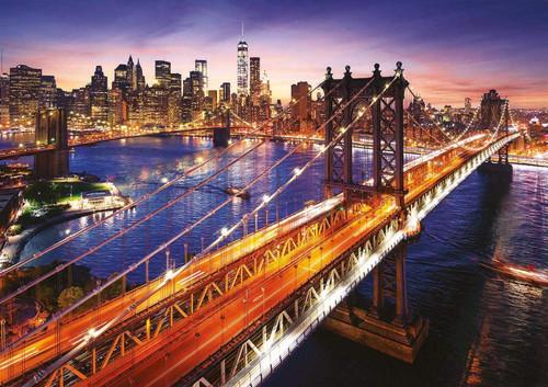 """Manhattan Brooklyn Bridge Sunset"" 3000 Piece Jigsaw Puzzle | Educa"