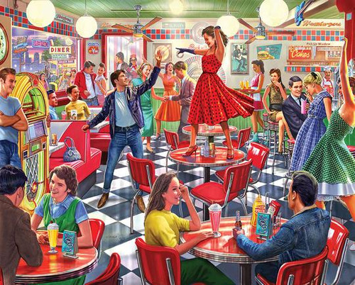 """""""Dancing At The Diner"""" 1000 Piece Jigsaw Puzzle 