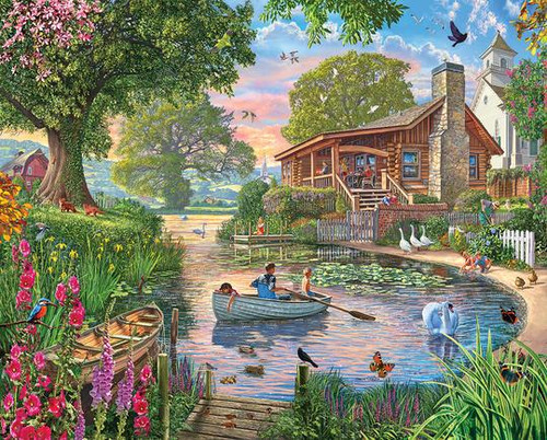 """""""Peaceful Pond"""" 1000 Piece Jigsaw Puzzle 