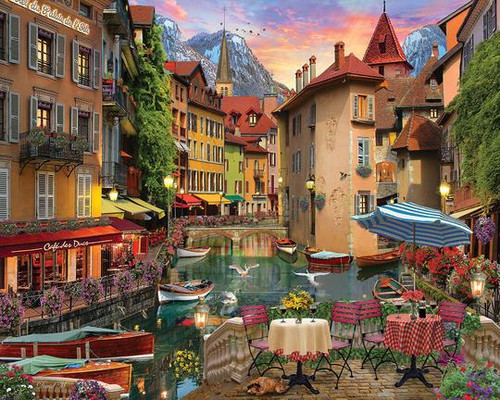 """""""Sunset on the Canal"""" 1000 Piece Jigsaw Puzzle 