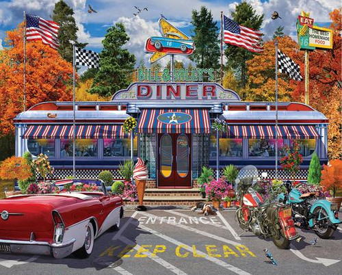 """""""Bill & Sally's Diner"""" 1000 Piece Jigsaw Puzzle 