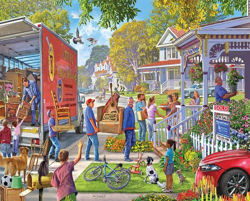 """""""Moving In"""" 1000 Piece Jigsaw Puzzle 