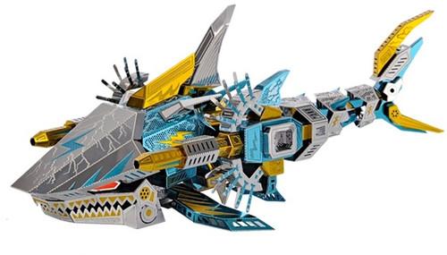 """Deep Sea Tiger Shark"" Zoids Metal Model Kit | Microworld"
