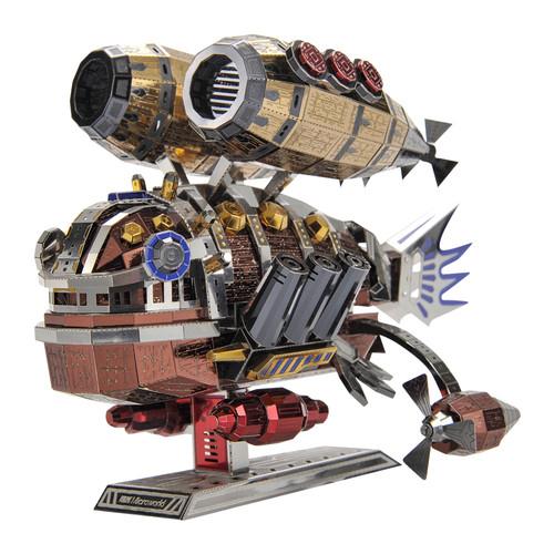"""Whale Base"" Steampunk Airship Metal Model Kit | Microworld"
