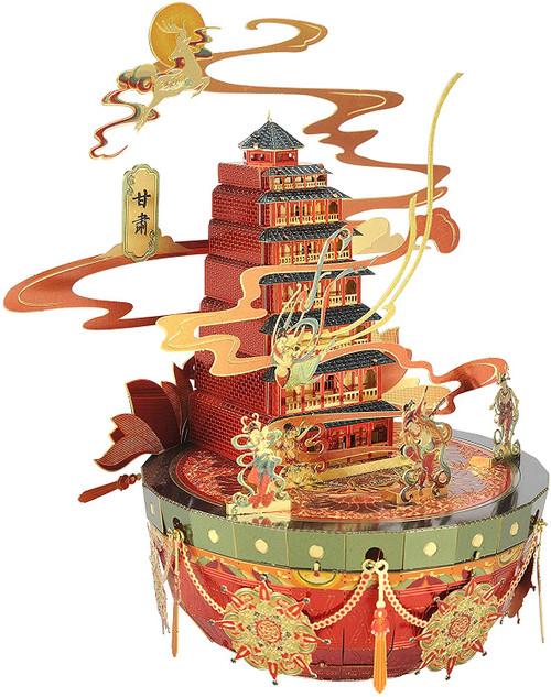 """Mogao Caves"" Gansu Province China - Metal Model Kit   Microworld"