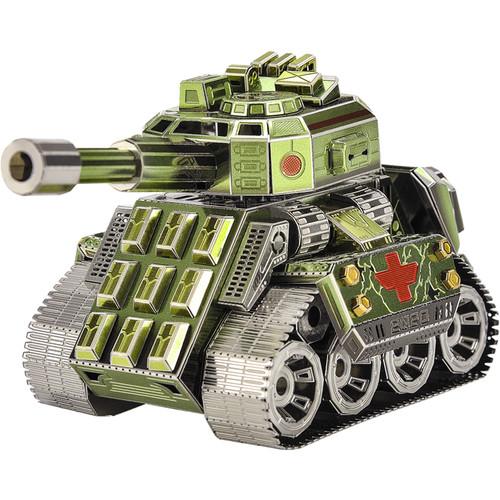 """Q Version Tank"" Rotating Turret Metal Model Kit | Microworld"
