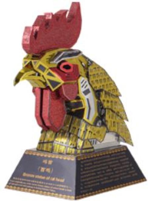 """Rooster"" *Zodiac Animal Heads Series* Metal Model Kit | Microworld"