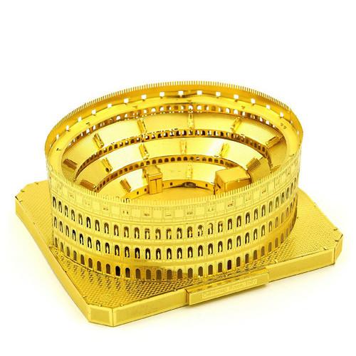 """Roman Colosseum"" *Gold* Metal Model Kit | Microworld"