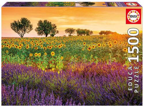 Field of Sunflowers & Lavander, 1500 Pieces, Educa