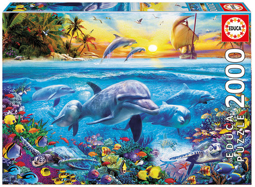 Family of Dolphins, 2000 Pieces, Educa