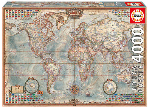 The World Executive Map, 4000 Pieces, Educa