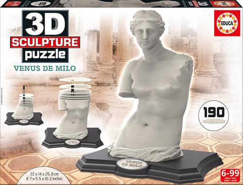 3D Venus de Milo Sculpture Puzzle, 190 Pieces, Educa
