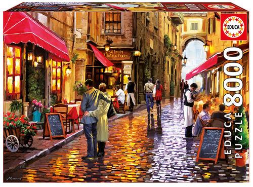 Café street, 8000 Pieces Educa Jigsaw Puzzle