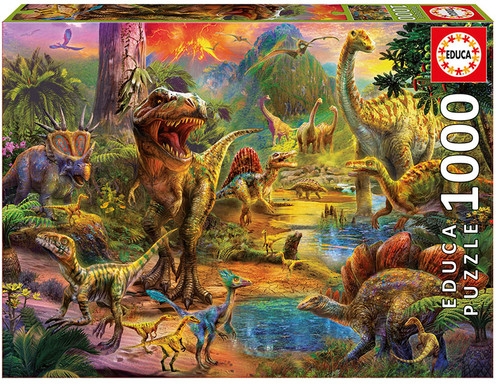 Land of Dinosaurs, 1000 Pieces, Educa