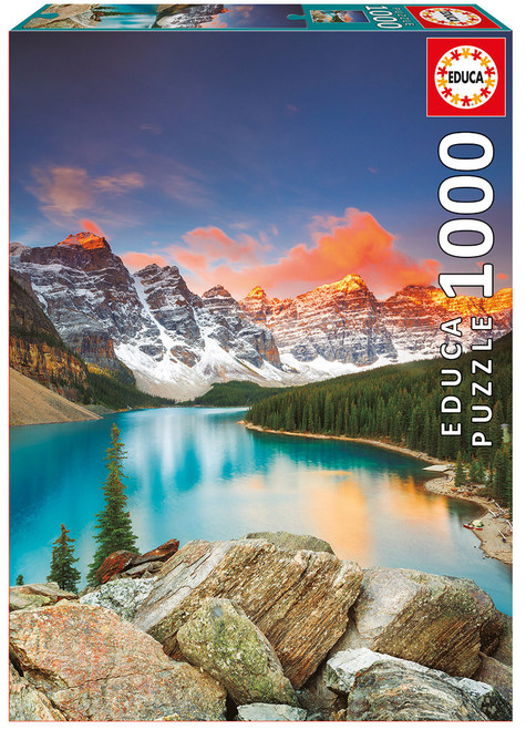 Moraine Lake, Banff National Park Canada, 1000 Pieces, Educa