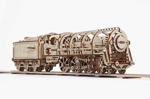Steam Locomotive Mechanical Wooden Model | UGears