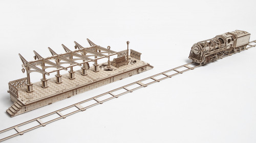 Railway Platform Mechanical Wooden Model | UGears