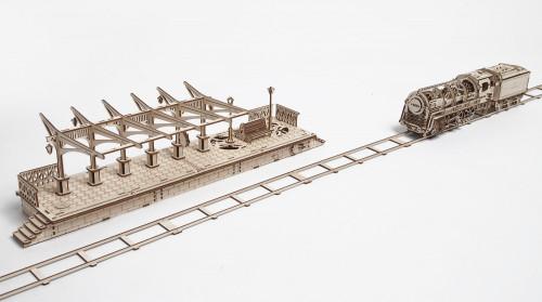 Railway Platform Mechanical Wooden Model | UGears