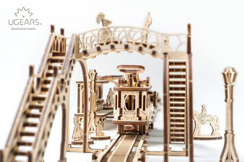 Tram Line Mechanical Wooden Model | UGears