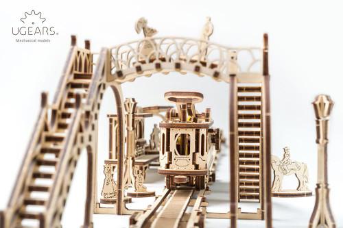 Tram Line Mechanical Wooden Model | UGears