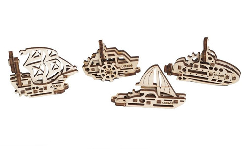 U-Fidget Tribiks Ships Mechanical Wooden Model Miniature Ships | UGears