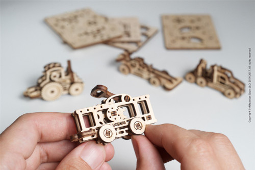 U-Fidget Tribiks Vehicles - 3D Mechanical Wooden Model Miniature Vehicles | UGears