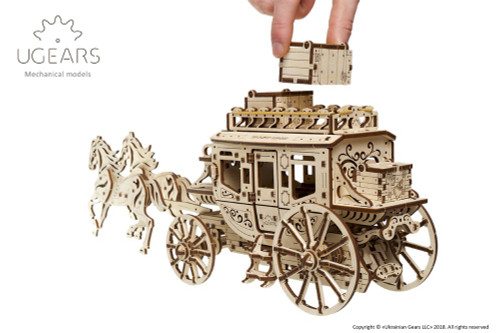 Stagecoach Mechanical Wooden Model | UGears