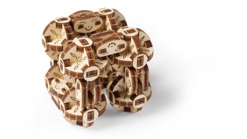 Flexi-Cubus Mechanical Wooden Model Octasphere Puzzle | UGears