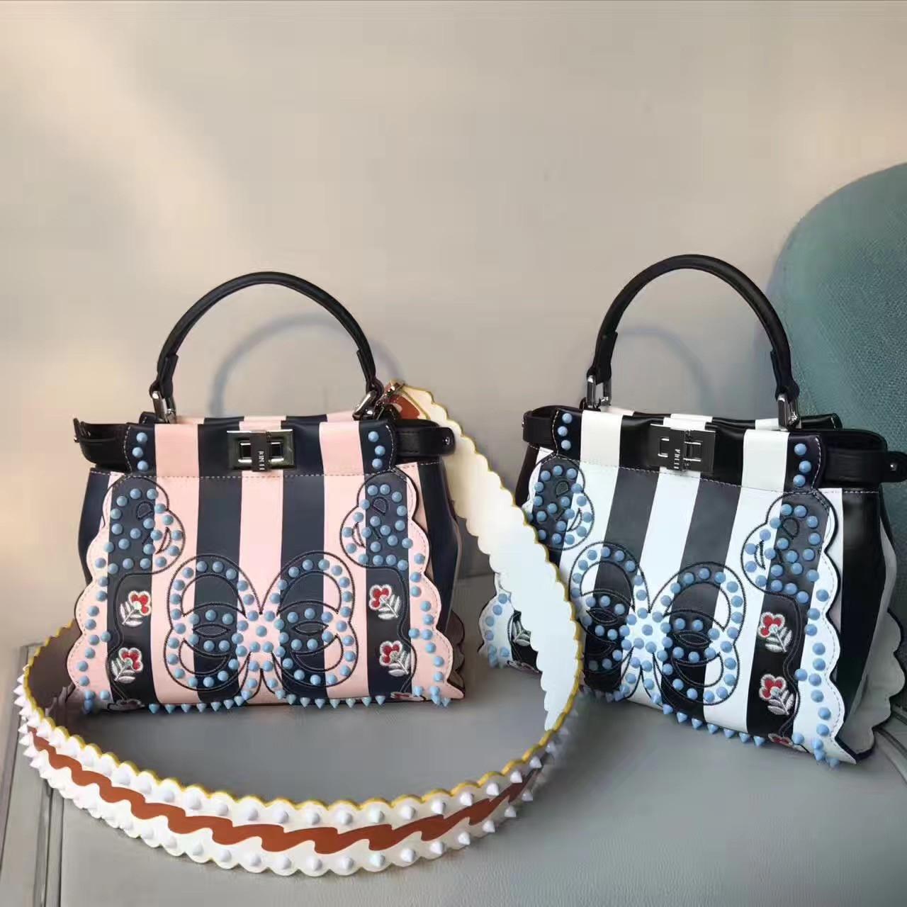 Fendi PEEKABOO Multicolored canvas bag Code  8BN2449GPF09DE - Bella ... 35e8dcbe0e90f