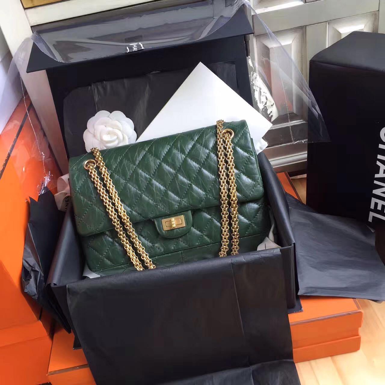 Chanel Large Green Reissue 2.55 Handbag A37587 - Bella Vita Moda 346773a0d6856