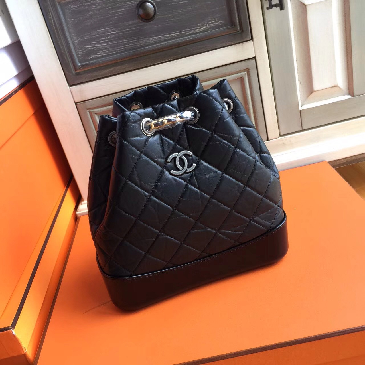 c5c5f0c2f95e Chanel GABRIELLE Backpack Black A94485 - Bella Vita Moda